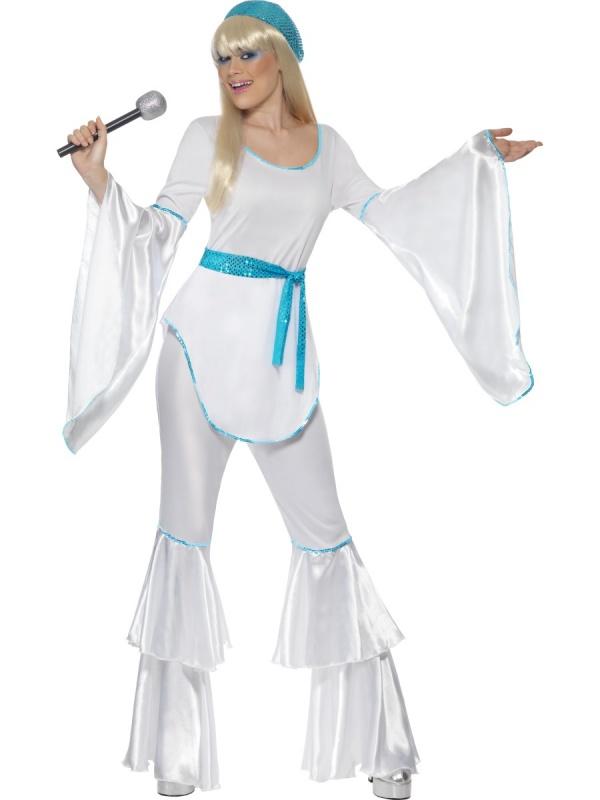 1f1e108613e7 Dámský kostým - ABBA modro-bílý - Ptákoviny Mírák